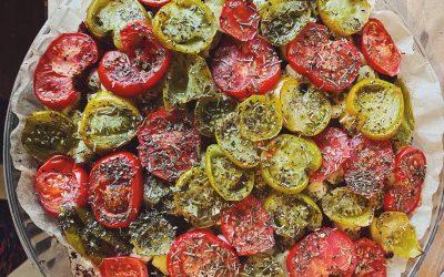 Tarte-socca aux légumes du soleil