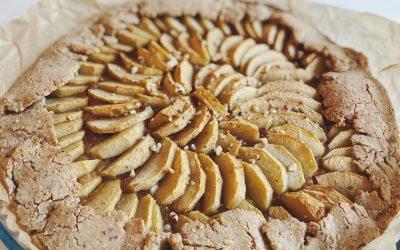Tarte rustique aux pommes (sans sucre)